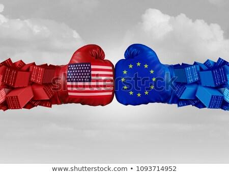 Europie Stany Zjednoczone handlu wojny amerykański dwa Zdjęcia stock © Lightsource