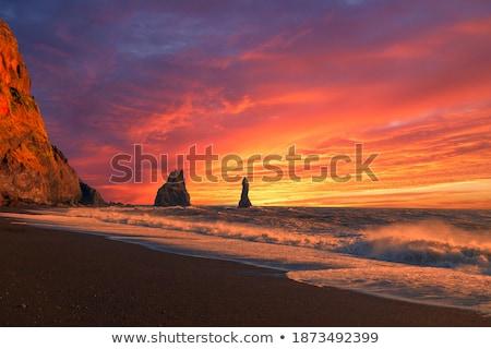 Kasaba İzlanda parmaklar manzara okyanus Stok fotoğraf © Kotenko