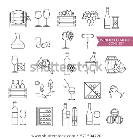 Winemaking - modern line design icons set Stock photo © Decorwithme