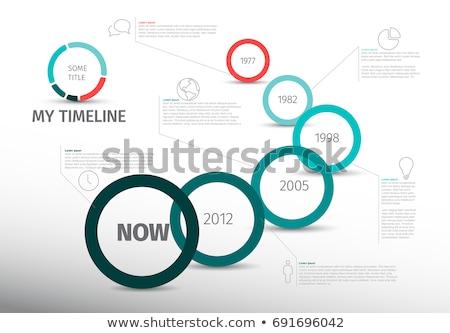 Clean colorato timeline infografica infografica modello Foto d'archivio © amanmana