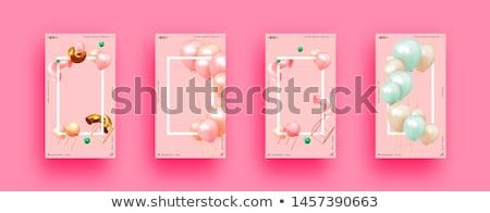 Happy Birthday Poster Banner Cover Vector Template Design stock photo © SaqibStudio