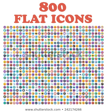 Foto stock: Transportation Flat Icons