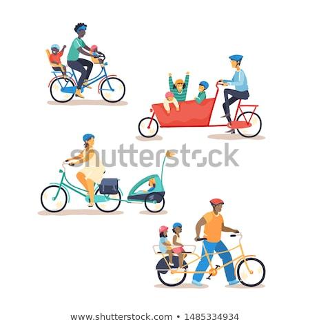 Tipo mãe ciclo conjunto mulher Foto stock © toyotoyo
