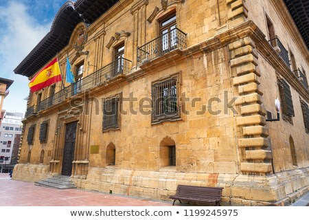 Justice tribunal Espagne ciel ville bleu Photo stock © lunamarina