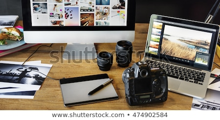 Office gadgets and photo camera Stock photo © dash