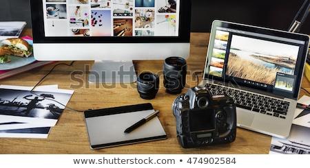 moderna · foto · cámara · blanco - foto stock © dash