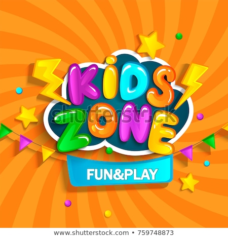 çocuklar oyun alanı park poster mutlu çocuklar Stok fotoğraf © robuart