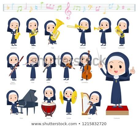 Nun women_classic music Stock photo © toyotoyo