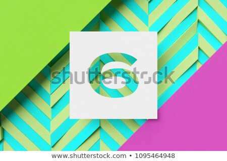 Black and white stripes Number 6 SIX 3D Stock photo © djmilic