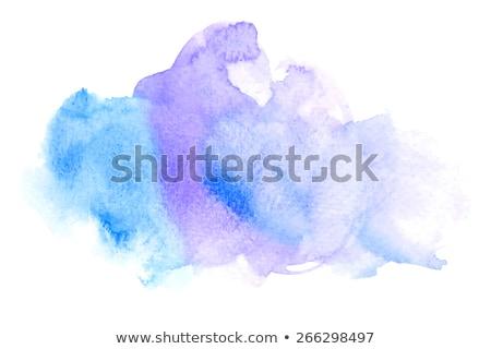 Aquarel vlek geïsoleerd witte splash verf Stockfoto © kollibri