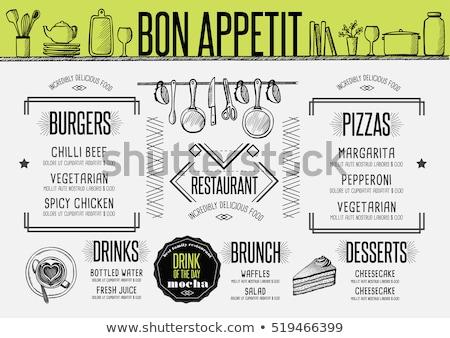 Stockfoto: Vector · wafel · illustratie · label · menu · boter