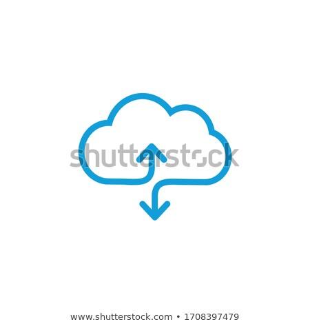 Nube download lineare icona isolato Foto d'archivio © kyryloff