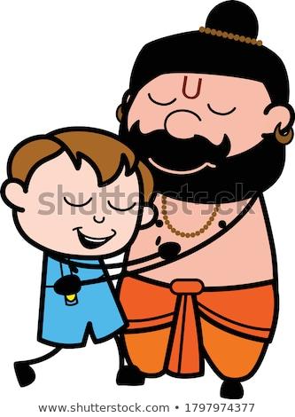 Rajz szerzetes ölelés illusztráció kész ad Stock fotó © cthoman