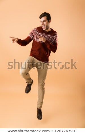 Immagine uomo 20s setola indossare Foto d'archivio © deandrobot