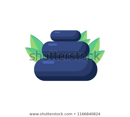 Pile of Stones, Aromatic Herbs Vector Illustration Stock photo © robuart