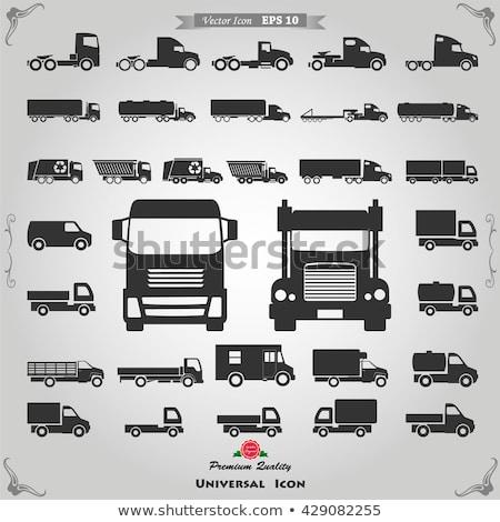 Vector cars and trucks icon set Stock photo © tele52