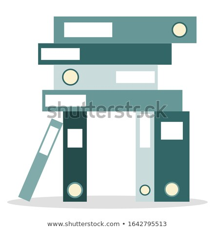Books Info Set Icons Closeup Vector Illustration Stock photo © robuart