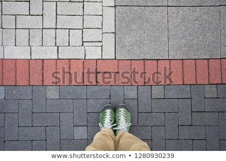 Górę widoku człowiek stałego kolorowy geometryczne Zdjęcia stock © boggy