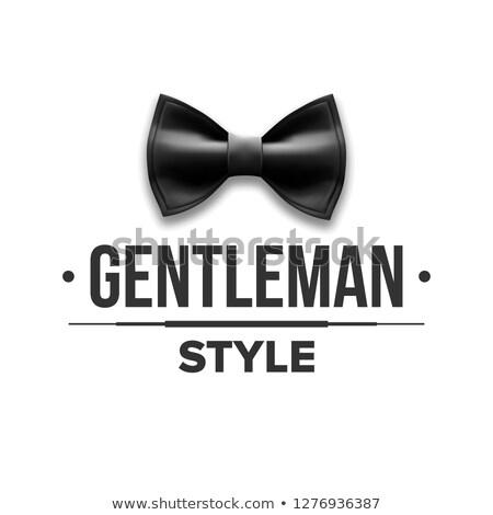 Gentleman label vector ontwerp klassiek Stockfoto © pikepicture