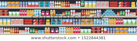 Grocery Shelves with Bottles and Packages Vector Stock photo © robuart