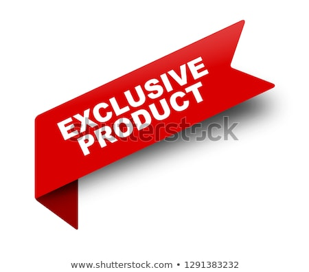 Exclusive Product Promotion Vector Illustration Stock photo © robuart