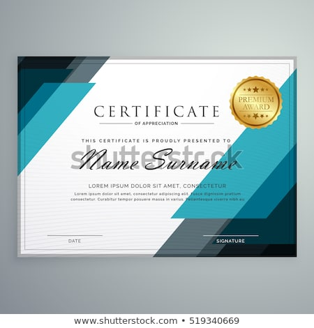 stylish certificate of appreciation template Stock photo © SArts