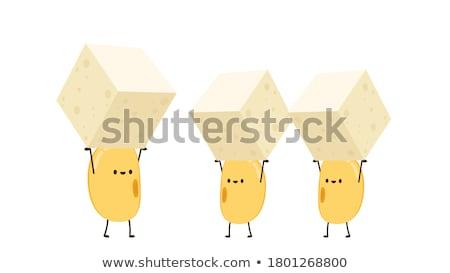 Mascot Soybean Tofu Illustration Stock photo © lenm