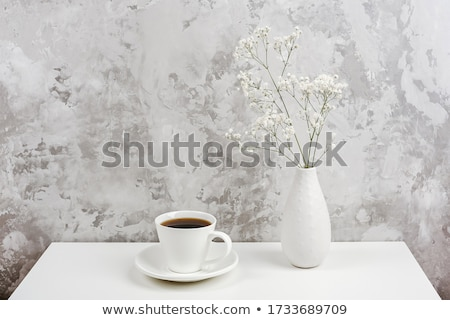 White Porcelain Small Drinking Cup in the Room Stock photo © make