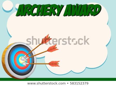 Certificate template for archery award Stock photo © colematt