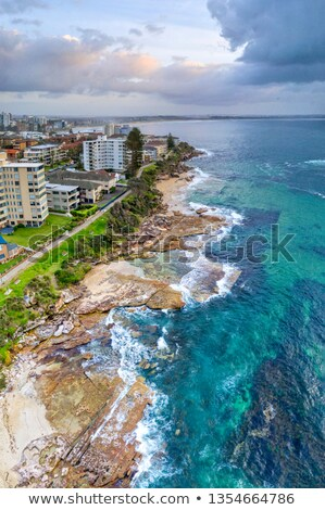 cronulla coastal seascape panorama stock photo © lovleah