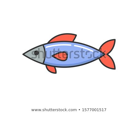 Allergy Reaction to Dish, Raw Cooked Fish Icon Stock photo © robuart