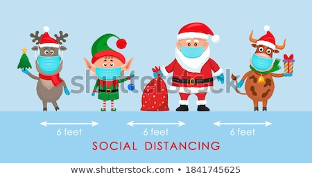 Merry Christmas Celebration of Elf and Santa Claus Stock photo © robuart
