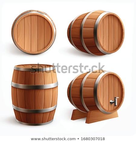 vector set of barrel stock fotó © olllikeballoon