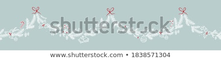Christmas Decoration Mistletoe Vector Isolated Stok fotoğraf © robuart