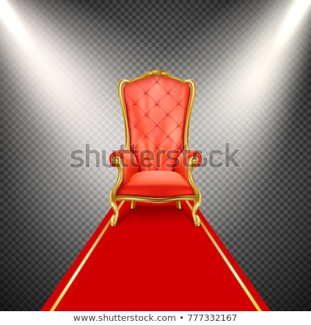 vector royal chair queen throne foto d'archivio © VetraKori