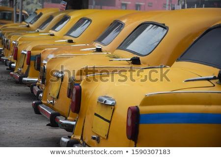 Vintage желтый такси 3d иллюстрации автомобилей городской улице Сток-фото © reticent