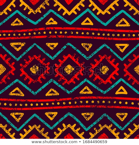 abstract african art tribal seamless pattern stock photo © cienpies