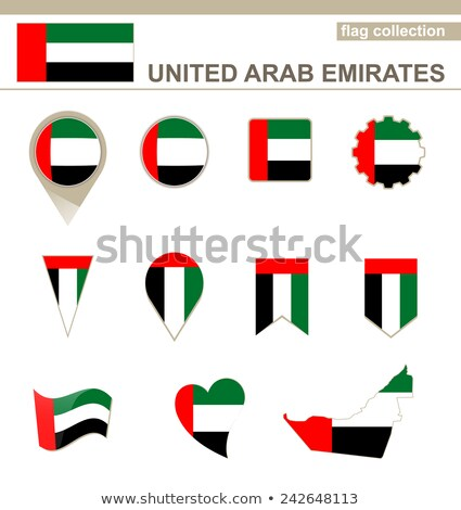 United Arab Emirates Flag Collection Set Vector Stock photo © pikepicture