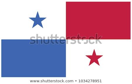 Panama Flagge weiß groß Set Welt Stock foto © butenkow