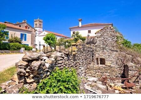 pittoresque · pierre · village · vue · région · Croatie - photo stock © xbrchx
