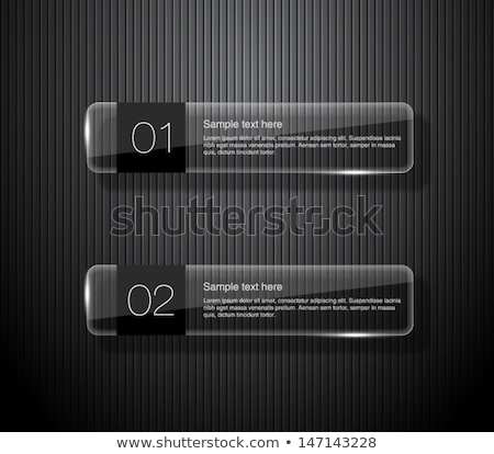 glass banner template set stock photo © romvo