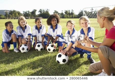 Actif garçons filles jouer sport amusement Photo stock © bluering