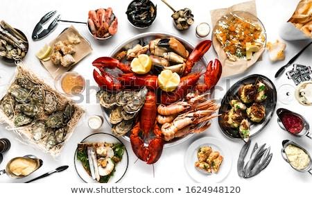 Alimentação lagosta frutos do mar jantar fresco marisco Foto stock © Lightsource