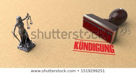 Stamp Kuendigung Stock photo © limbi007