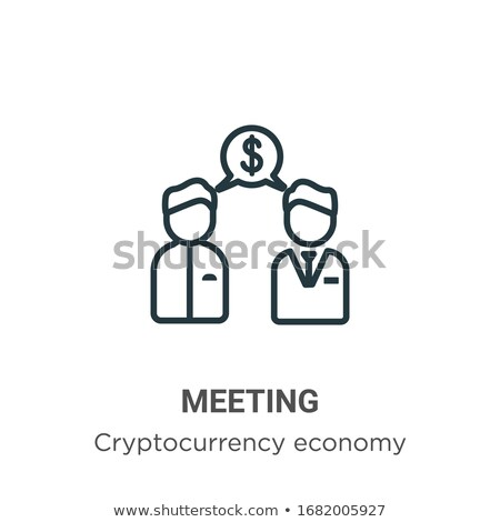 Blockchain Meeting Seminar Vector Illustration Stock photo © robuart