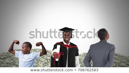 Man Growing up at different age stages of life with money Stock photo © wavebreak_media