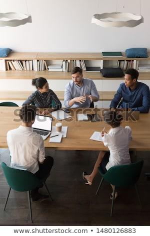 Afbeelding uitvoerende zakenman werken overleg gesprek Stockfoto © Freedomz