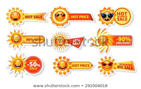 Nyár árengedmény csökkentés szett plakátok vektor Stock fotó © robuart