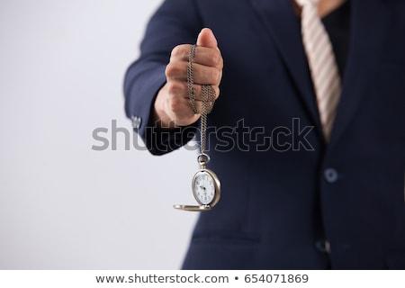 man · hand · zandloper · klok - stockfoto © wavebreak_media