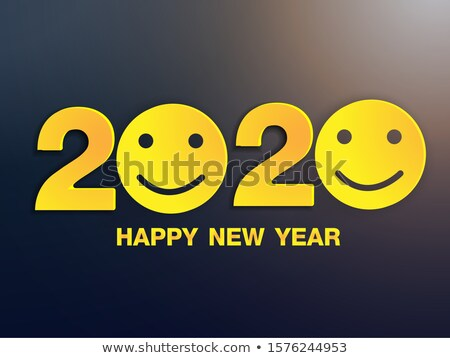 Happy 2020 New Year colour banner in paper style. Holiday flyer. Vector Stock photo © Andrei_